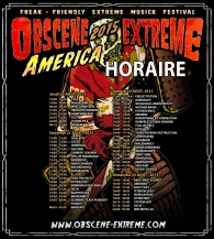 OBSCENE EXTREME AMERICA 2015 - HORAIRE!!!