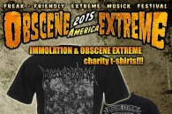 IMMOLATION & OBSCENE EXTREME charity t-shirts!!!